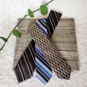 3P Patterned Silk Ties Chaps, Van Heusen, Axcess